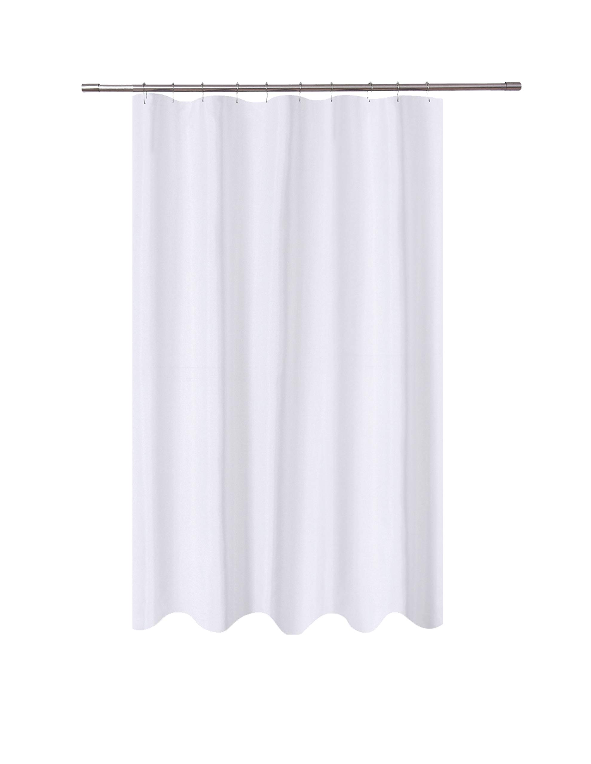 N&Y HOME Fabric Shower Curtain Liner 54 x 78 inches Bath Stall Size, Hotel Quality, Washable, Water Repellent, White Spa Bathroom Curtains with Grommets, 54x78