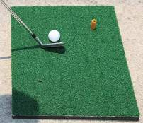 """SLOT IT GOLF Mats, Deluxe 20"""" x 15"""" x 1.4"""" 3 Layers - Nylon Knitted Grass, Thick EVA Foam and Non-Slip Rubber Base for All Surfaces."""