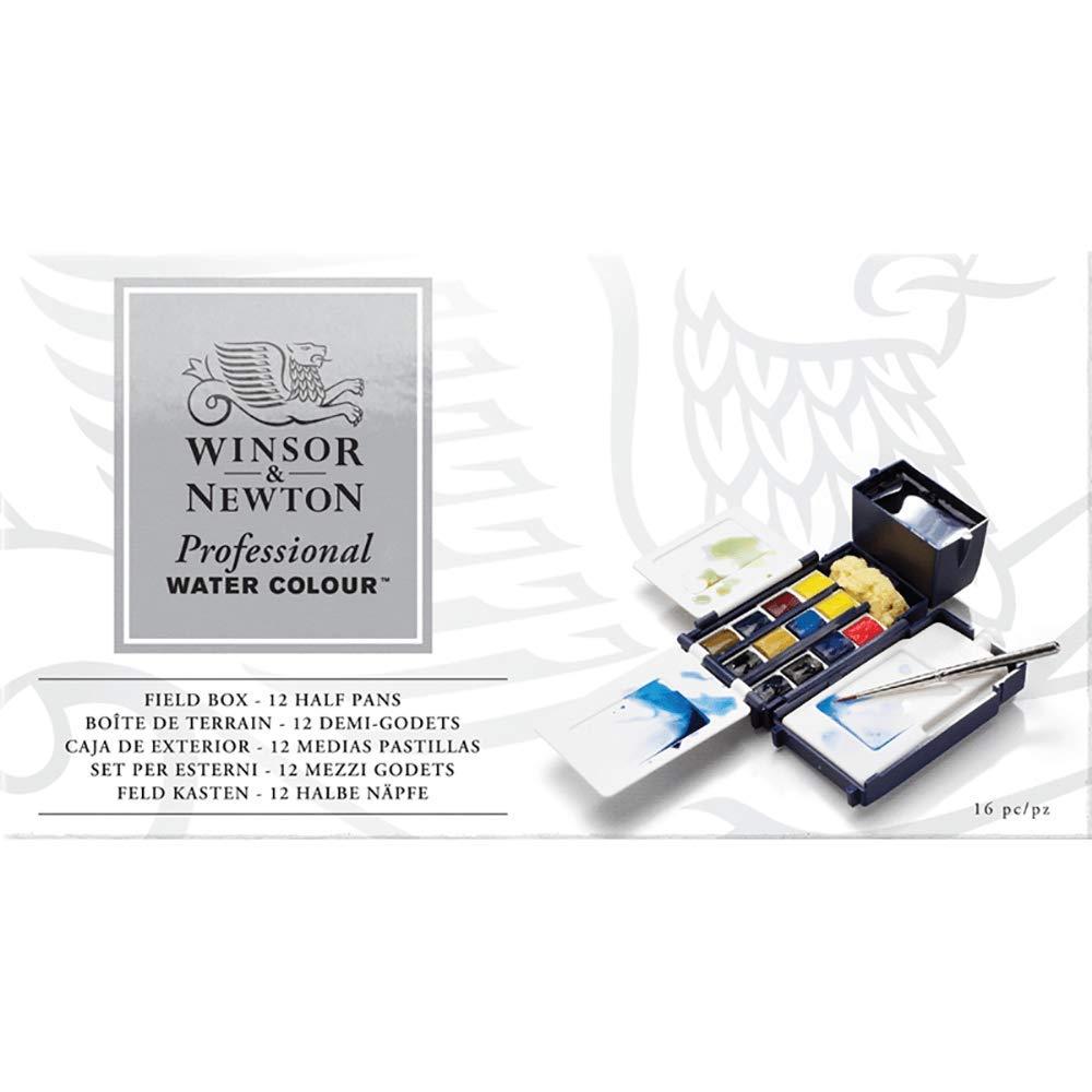 Winsor & Newton Professional Water Colour Field Box, 12 Half Pans