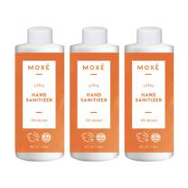 MOXE Premium Hand Sanitizer With Essential Oils - Citrus Oil - Fresh Scent Soothing Hand Gel – Removes Bacteria On Skin And Leaves Hands With An Invigorating Citrus Scent (3 Bottles)