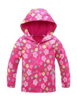 Mallimoda Girls'Hooded Jacket Fleece Liner Waterproof Outdoor Coat Outwear
