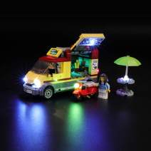 BRIKSMAX Led Lighting Kit for Great Vehicles Pizza Van - Compatible with Lego 60150 Building Blocks Model- Not Include The Lego Set