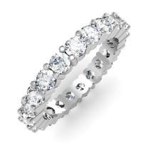 Dazzlingrock Collection 2.10 Carat (ctw) 14K Round Diamond Ladies Eternity Anniversary Stackable Wedding Band, White Gold