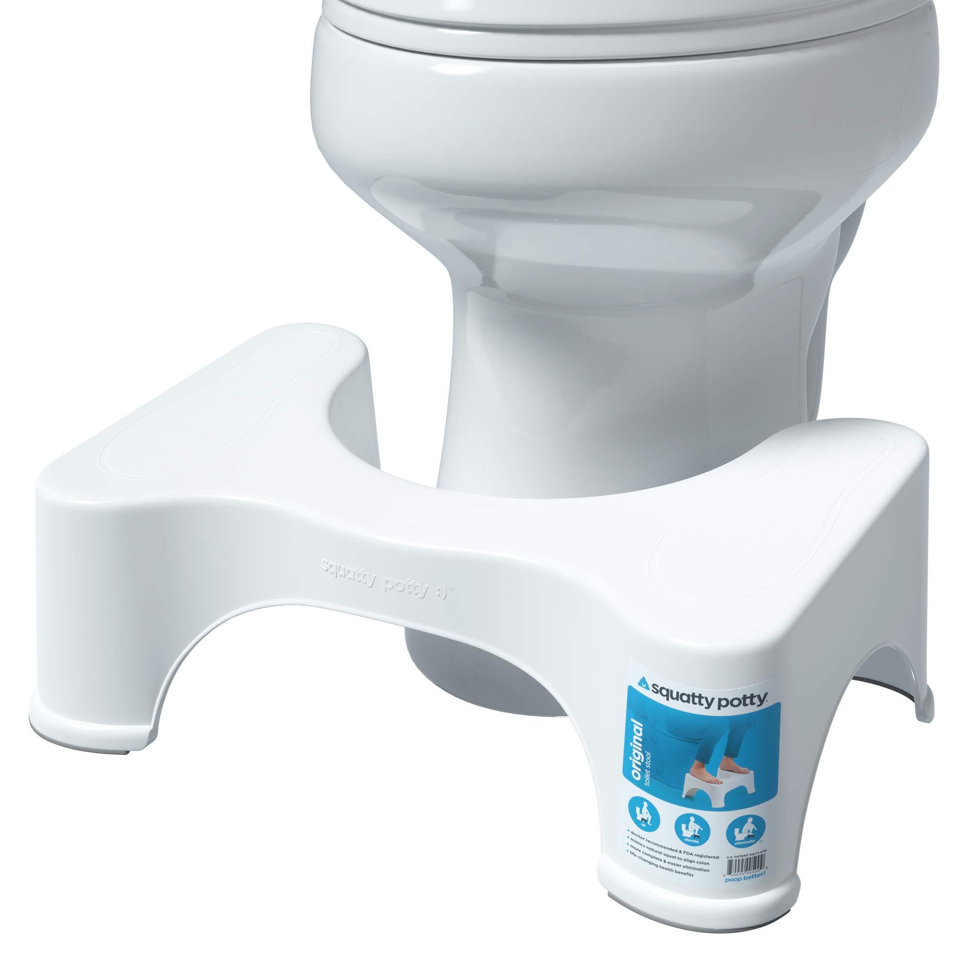 Squatty Potty The Original Bathroom Toilet Stool, 7 Inch height, White