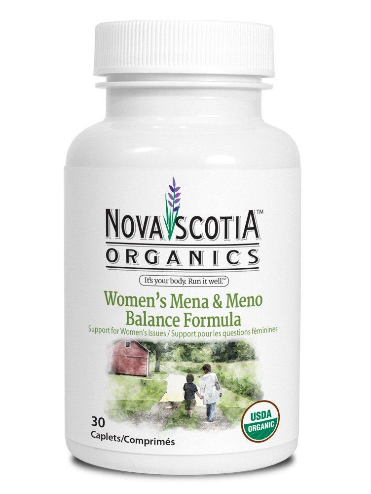 Organic Womens Mena & Meno Balance Formula (30 caplets), organic, vegan, vegetarian, menopause, menapause pms, dong quai, shatavari, eleuthero, red clover, black cohosh, chaste tree