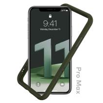 RhinoShield Bumper Case Compatible with [iPhone 11 Pro Max] | CrashGuard NX - Shock Absorbent Slim Design Protective Cover 3.5M / 11ft Drop Protection - Camo Green