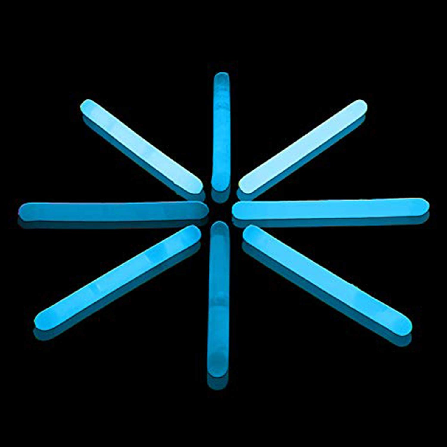 Lumistick 1.5 Inch Fishing Glow Sticks | Bright Color Snap Lights Glowsticks | Neon Mini Light for Swimming | Glow in The Dark Camping Night Party Favor Supplies (Blue, 1000 Glow Sticks)