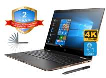 """HP Spectre x360 15t 4K UHD Convertible 2-in-1 Laptop (Intel 8th Gen i7-8705G, 32GB RAM, 1TB PCIe SSD, 15.6"""" Touch UHD 3840x2160, Radeon RX Vega M, Win10 Pro) Two Year Warranty and Accidential Damage"""