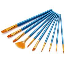 AOOK 10 Pieces Paint Brush Set Professional Paint Brushes Artist for Watercolor Oil Acrylic Painting (1-Pack B)