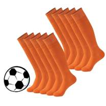 Calbom Colored Tube Socks, Unisex Knee High Football Soccer Volleyball Baseball Cheerleading Team Socks 2/6/10Pairs