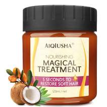 Magical Hair Mask 120ml with Organic Argan Oil Coconut Oil, 5 Seconds to Restores Dry Damaged Hair, Moisturizing Anti Frizz Hair Mask