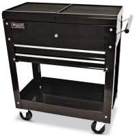 Homak 27-Inch Professional Series 2-Drawer Slide-Top Locking Serivce Cart, Black, BK06022704