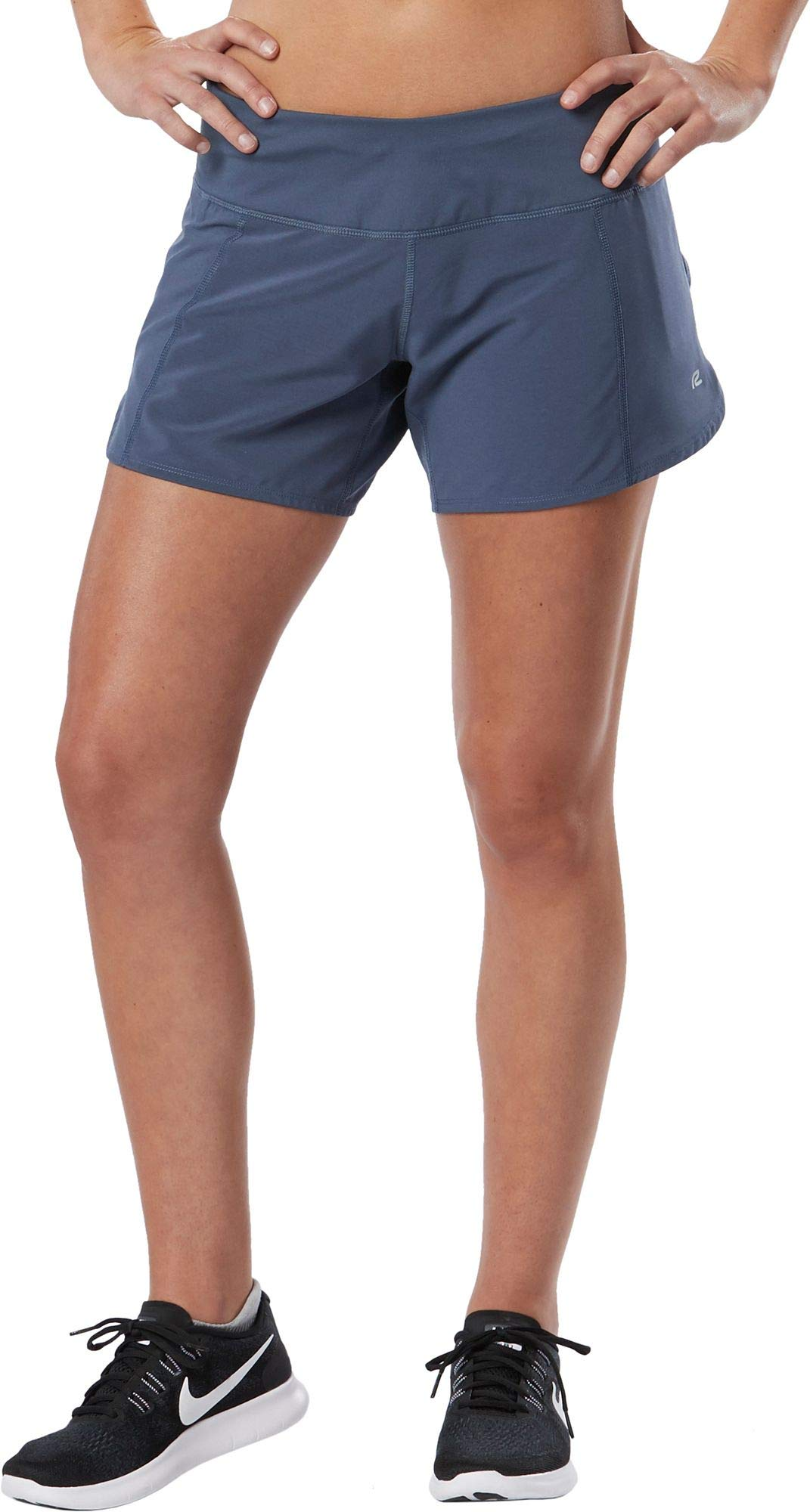R-Gear Women's 5-Inch Running Workout Shorts with Pockets and Brief Liner   Outpace