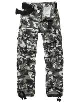 AKARMY Men's Military Tactical Pants Work Cargo Pants Casual Relaxed Fit Trousers with Multi Pockets