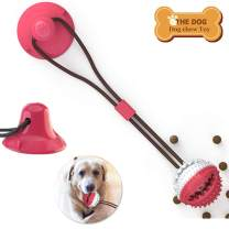 Coppthinktu Dog Toys Dog Suction Cup Tug Toy, Dog Chew Toys Ball for Small Medium Dogs, Chew Toys for Puppies Teething, IQ Training Ball, Multifunctional Interactive Ropes Dog Ball
