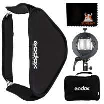 GODOX Foldable Softbox 60x60cm 24x24in with S2 Type Flash Bracket Bowens Mount Holder for Studio Flash Speedlight Photography (60x60cm softbox) (SUSGUV6060)