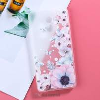 Cocomii 3D Flower Translucent Xiaomi Redmi 4 Case, Slim Thin Matte Soft Flexible TPU Silicone Rubber Gel 3D Relief Silicone Floral Fashion Bumper Cover for Xiaomi Redmi 4 (Watercolor Butterflies)