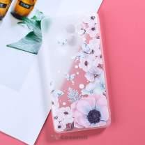 Cocomii 3D Flower Translucent Xiaomi Redmi 4 Case, Slim Thin Matte Soft Flexible TPU Silicone Rubber Gel 3D Relief Silicone Floral Fashion Bumper Cover for Xiaomi Redmi 4 (Watercolor Butterflies)