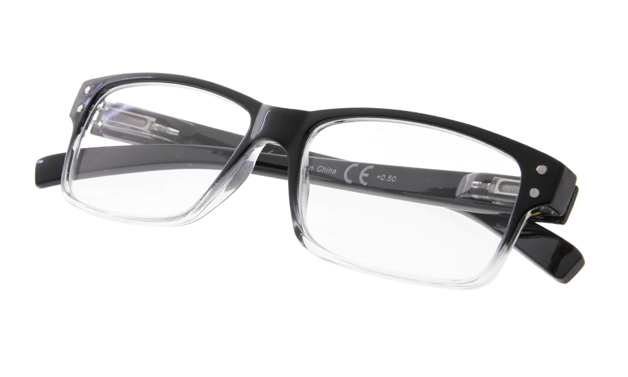 Reading Glasses with Spring Hinge for Men - Ladies Classic Readers