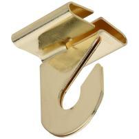 National Hardware N249-672 V156 Suspended Ceiling Hooks in Brass, 2 pack