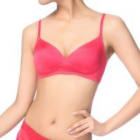 Fimage Women's Silk Ultra Thin Soft Smooth Comfortable Wirefree Bra Black