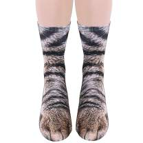 Animal Paw Socks, Taotopia Unisex Adult Paw Print 3D Socks Novelty Animal Paws Crew Socks for Men Women