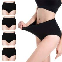 cassney Women's Cotton Underwear, High Waist C Section Ladies Panties Multipack