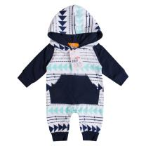 Emmababy Baby Boys Girls Jumpsuit Hoodie Romper Outfit Long Sleeve Creepers Bodysuit Clothes