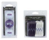 "Team Golf NCAA Logo Imprinted Golf Balls (3 Count) & 2-3/4"" Regulation Golf Tees (50 Count), Multi Colored"