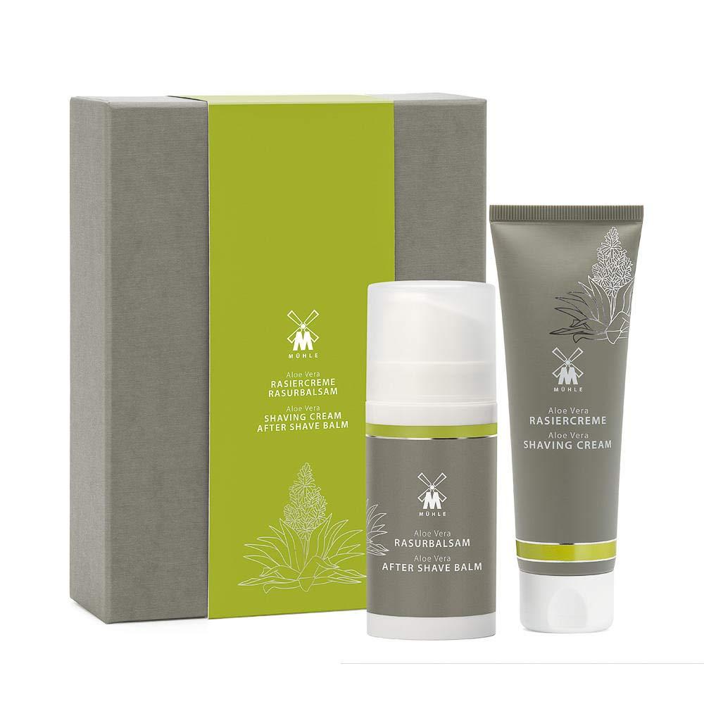 MÜHLE SHAVE CARE Aloe Vera Set - Incl. Shaving Cream & Aftershave Balm