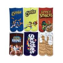 Leoparts Women Men 3D Funny Crazy Novelty Cartoon Printing Food Tube Socks