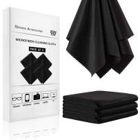 Microfiber Cleaning Cloth 4 Pack - 10x10 Screen Cleaning Cloth TV Screen Cleaning Wipes for Phone