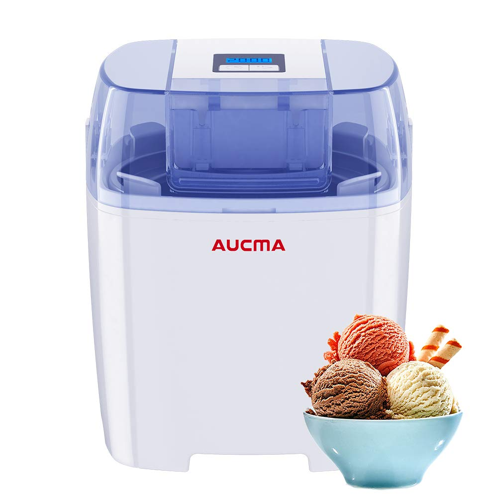 Aucma Ice Cream Machine, 1.5 Quart Ice Cream Maker Gelato Maker Electric Frozen Yogurt Sorbet Machine with LCD Timer for Home Kids (HICM-119)