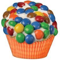 "iscream Rainbow-riffic! Candy Cupcake 17"" x 16"" Photoreal Print Microbead Pillow"