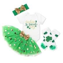 Baby Girl My 1st ST Patrick's Day Green Bodysuit Tutu Headband Outfit Set