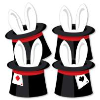 Big Dot of Happiness Ta-Da, Magic Show - Rabbit in a Magician's Hat Decorations DIY Magical Birthday Party Essentials - Set of 20