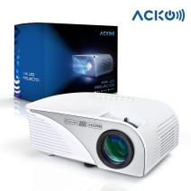 """Mcwell Portable Mini HD LED Video Projector Office Home Theater 1200 LM Multimedia Outdoor 20""""-150"""" HDMI VGA USB AV SD Audio 1080P Smart Phone Tablet PC Computers Laptops White"""