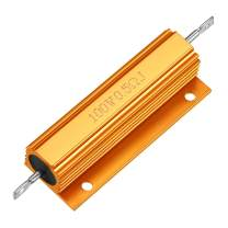 uxcell Aluminum Case Resistor 100W 0.5 Ohm Wirewound Yellow for LED Replacement Converter 100W 0.5RJ