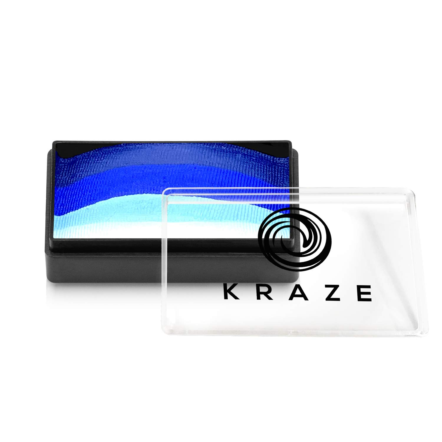 Kraze FX Dome Stroke - Dark Wave (25 gm), Professional 1-Stroke Split Cake, Hypoallergenic, Non-Toxic, Water Activated Face & Body Painting Makeup Supplies for Sensitive Skin, Kid Safe, Adults