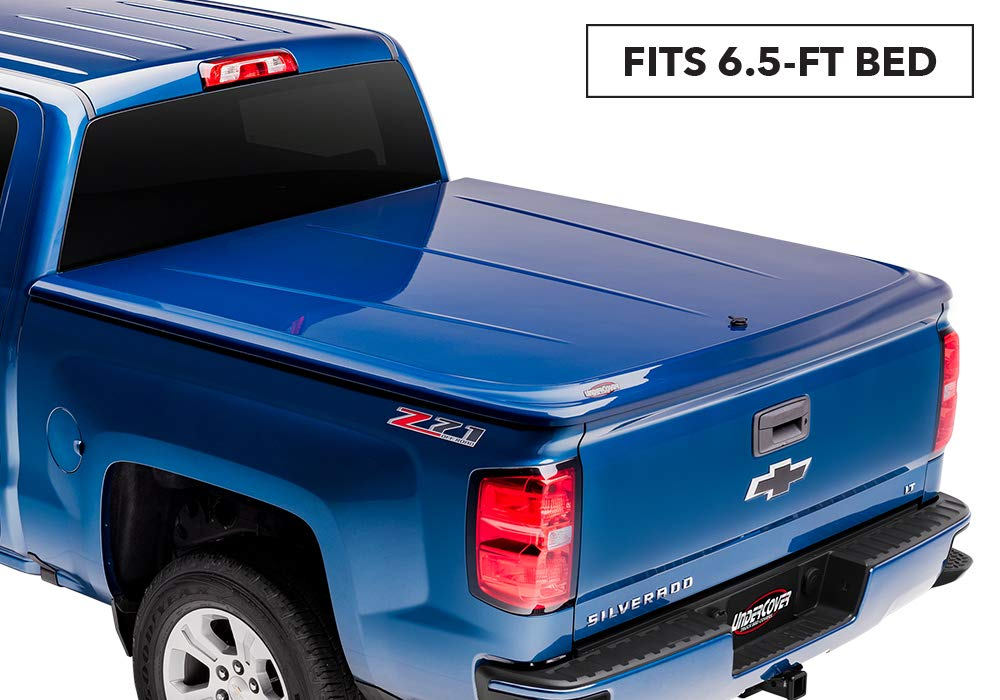 "Undercover Lux One-Piece Truck Bed Tonneau Cover | UC1146L-41 | Fits 14-18, 19 Ltd/Legacy GMC Sierra Limited (1500,2500,3500)41 (GBA)(WA8555) - Black  6'6"" Bed"
