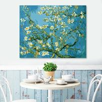 Faraway DIY Oil Painting Paint by Number Van Gogh Almond Blossom Coloring by Numbers (Framed Canvas)