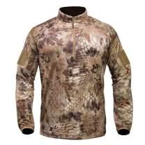 Kryptek Valhalla 2 LS Zip - Long Sleeve Camo Hunting Shirt (Valhalla Collection)