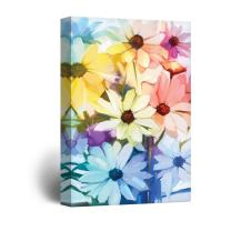 wall26 Canvas Wall Art - Oil Painting Style Various Colored Flowers - Giclee Print Gallery Wrap Modern Home Decor Ready to Hang - 16x24 inches