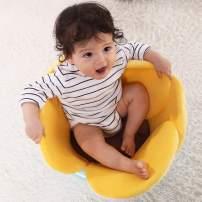 vocheer Flower Baby Bath Pad, Comfort Baby Bath Pad Infant Bathtub Mat Baby Bath Support Lounger for Newborn 0-6 Months, Yellow