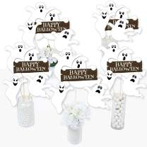 Big Dot of Happiness Spooky Ghost - Halloween Party Centerpiece Sticks - Table Toppers - Set of 15