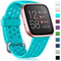 GEAK Sport Bands for Fitbit Versa 2/Versa Bands/Versa Lite Smartwatch, Waterproof and Breathable Wristbands with Metal Buckle for Fitbit Versa 2 Smart Fitness Watch Women Men, Small Large