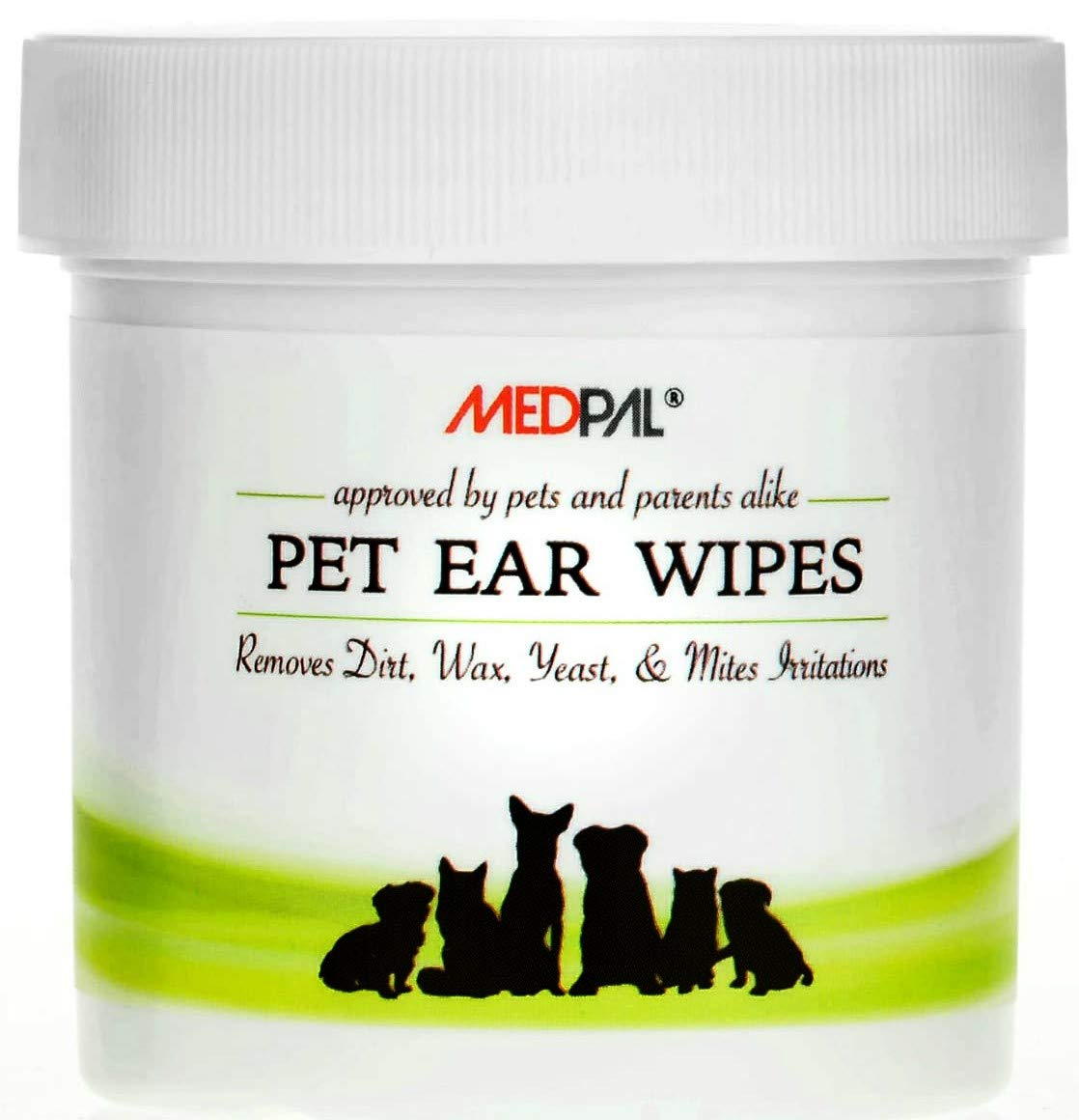 MedPal Professional Pet Ear Cleansing Wipes for Dogs and Cats - Dog Ear Wipes Used to Stop Itching, Prevent Mites, Yeast & Ear Infections. - Advanced Formula! (100 Count)