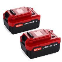 2Pack 20V 5.0Ah MAX Battery for Porter Cable 20V Lithium Battery Replacement PCC685L PCC685LP PCC680L PCC682L
