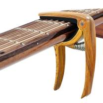 MIMIDI Guitar Capo, Zinc Metal Fret Clamp for Acoustic Guitar, Electric Guitar, Ukulele, Bass (Wood)