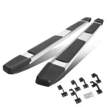 """6"""" Chrome Polished Flat Side Step Nerf Bar Running Board Replacement for Toyota Tacoma Crew Cab 05-20"""